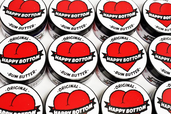 Knob of Happy Bottom Bum Butter Vegan Cycling Chamois Butter